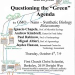 Important talk: Questioning the Green Agenda