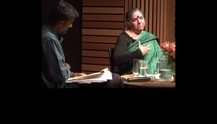 Watch Video:  Vandana Shiva & Gopal Dayaneni on Corporate Biotech Green vs. Ecological Green