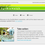 New SynBioWatch newsletter - read the first edition and sign up for future ones!